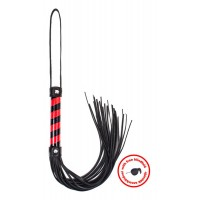 Whip black_red leather with blindfold