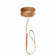 MAZE - Wide choker with leash brown