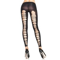 Opaque Footless Tights - BLACK - O/S - HOSIERY