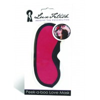 LUX FETISH Peek-a-boo Love Mask red
