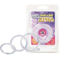 Cock & Ball Rings 40,45 50mm. clear