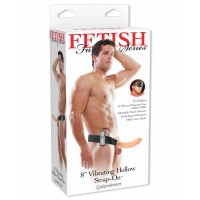 FF VIBR HOLLOW STRAP ON FLESH