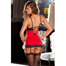 2PC Hollywood chemise & g-string set S/M